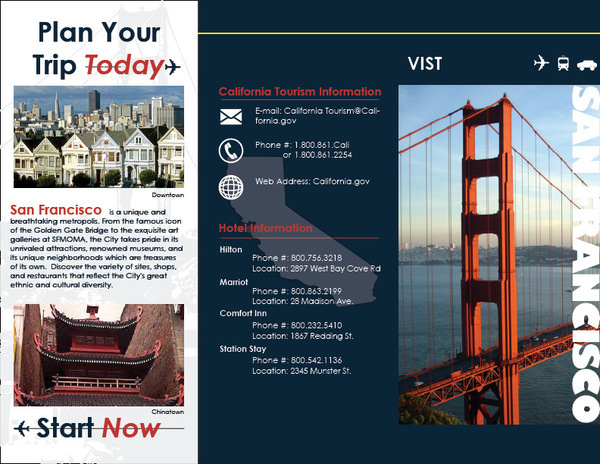 San Francisco Travel Brochure On Behance