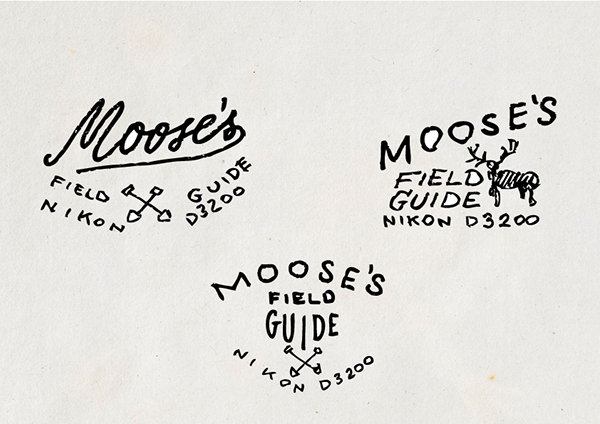 Moose's field guide X nikon 3200 on Behance