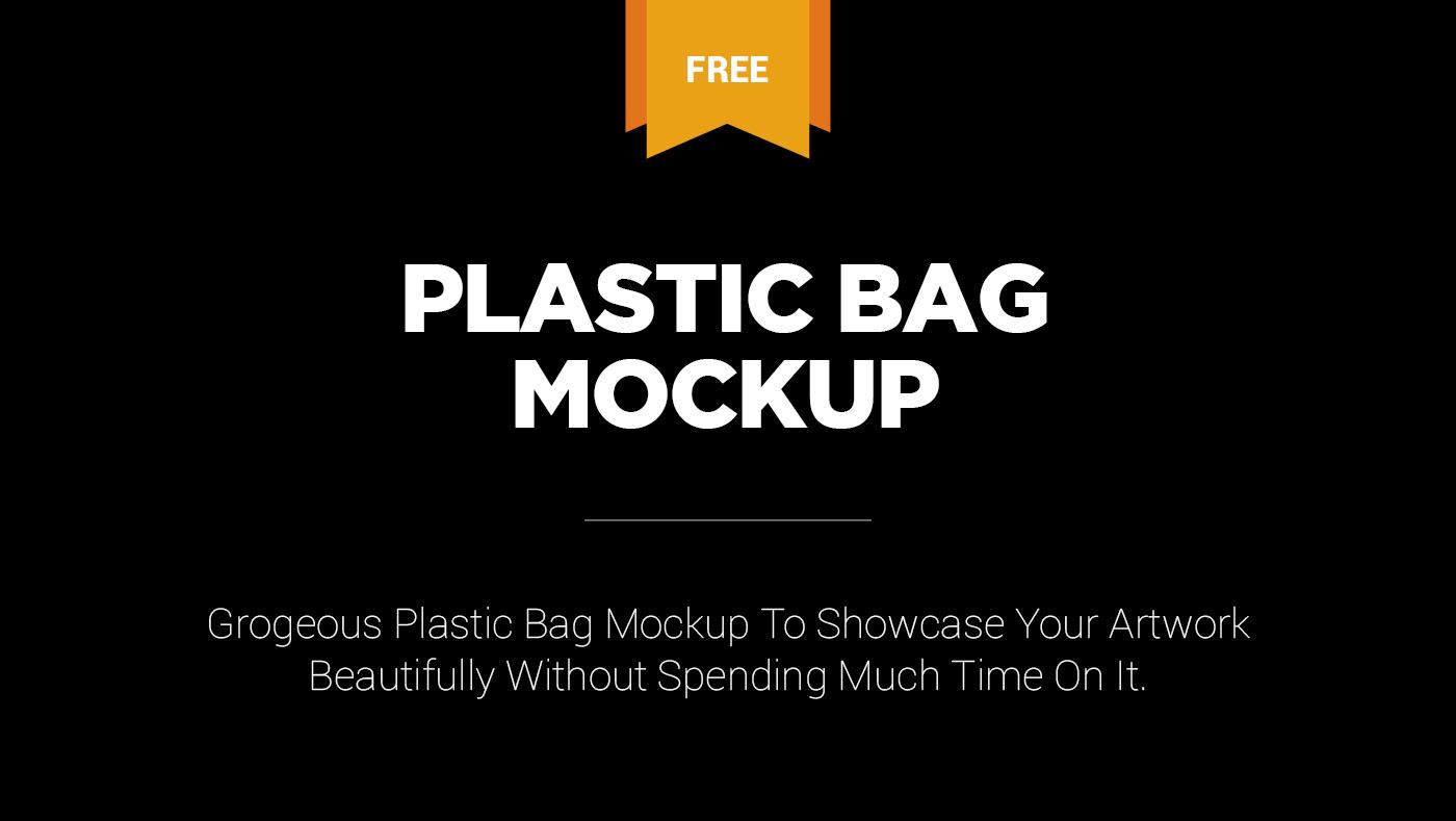 Fully layered and versatile mockup of a flat apron. Free Plastic Bag Mockup On Behance