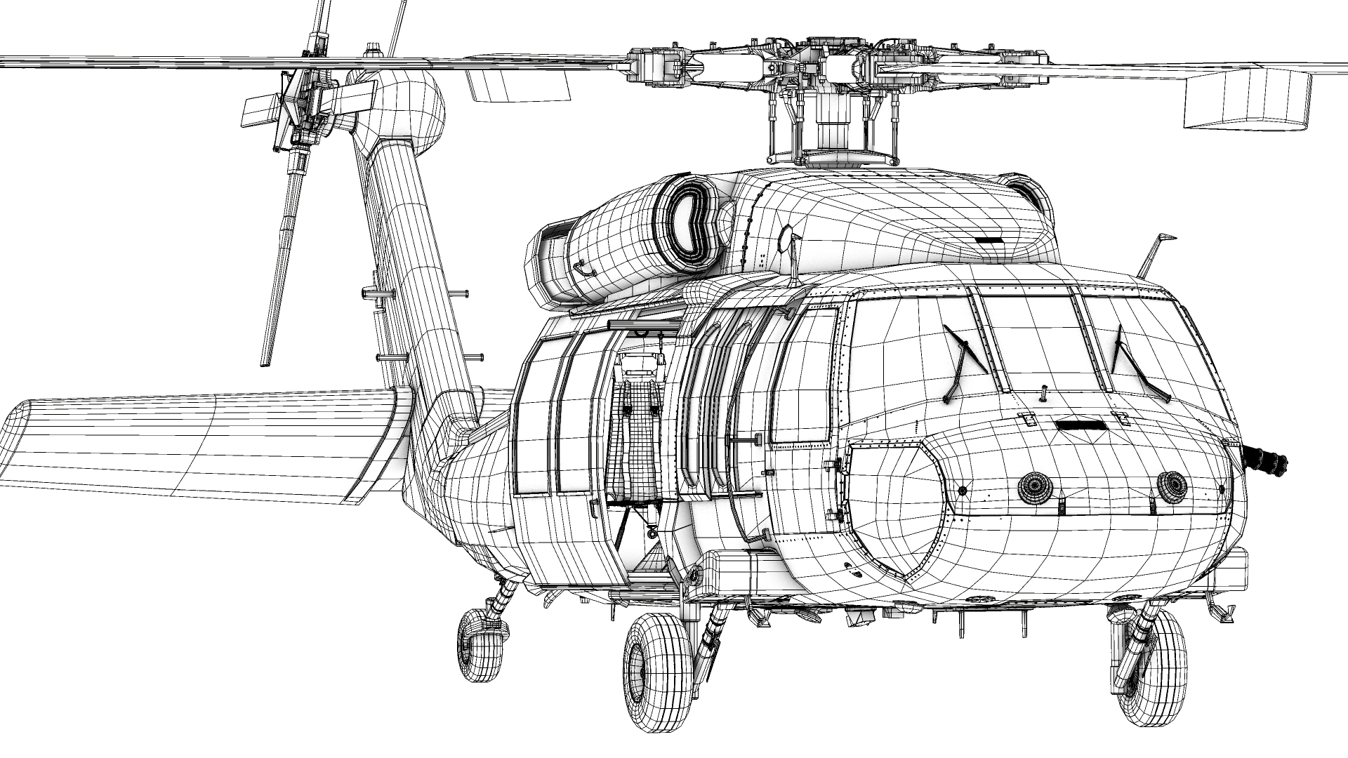 hight resolution of black hawk helicopter diagram