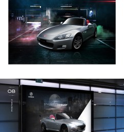 graphic design cars honda honda s2000 concept design sportscar poster design magazine ad brochure design stationery design sportscar poster  [ 1400 x 2160 Pixel ]