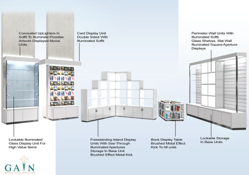 small resolution of southampton art gallery gift shop interior on behancekick wall island diagram 20
