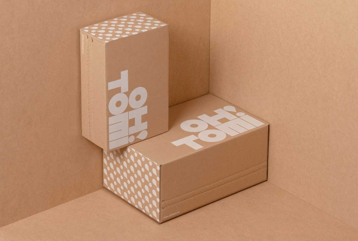 Example of shipping boxes