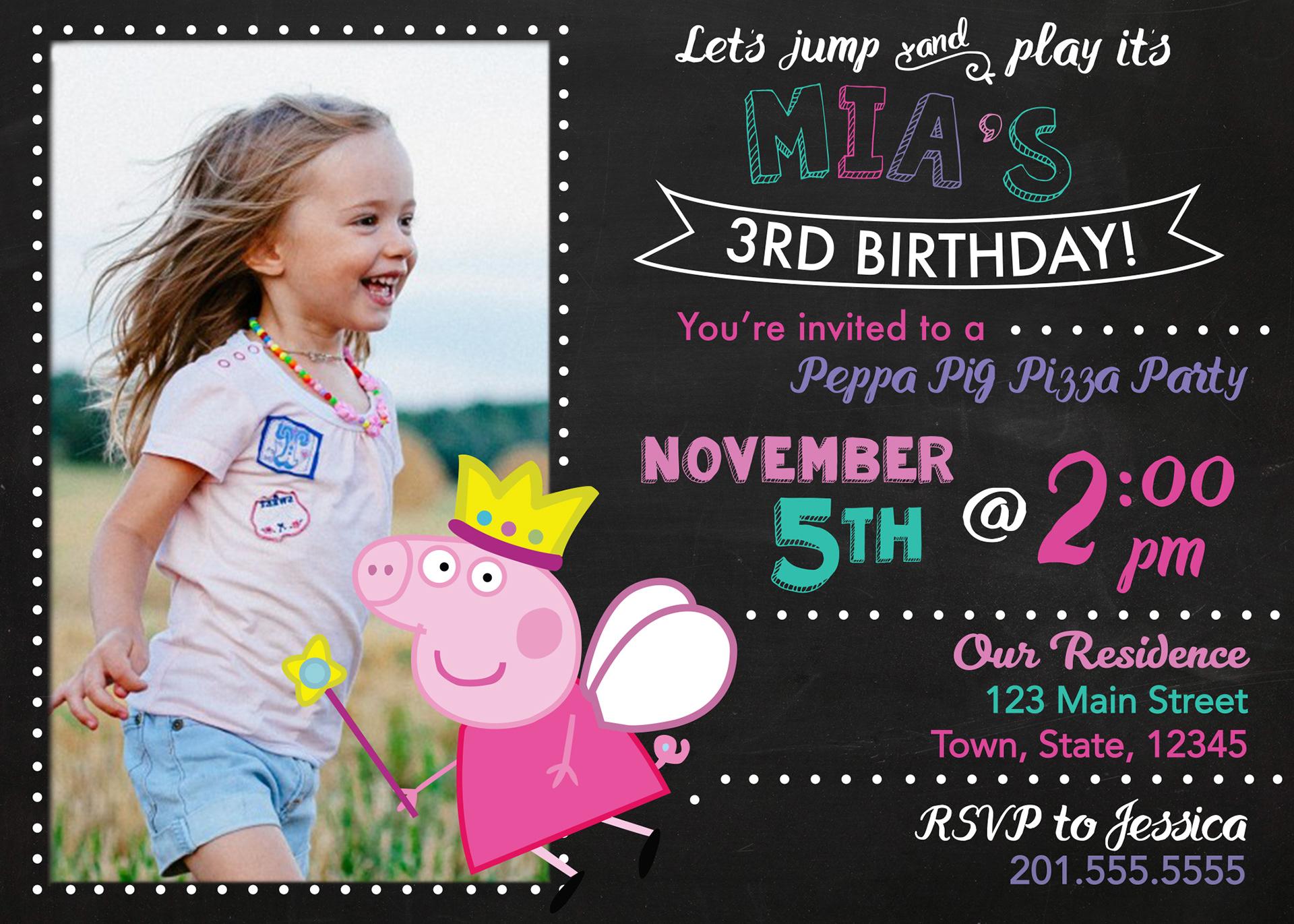 3rd birthday invitation on behance