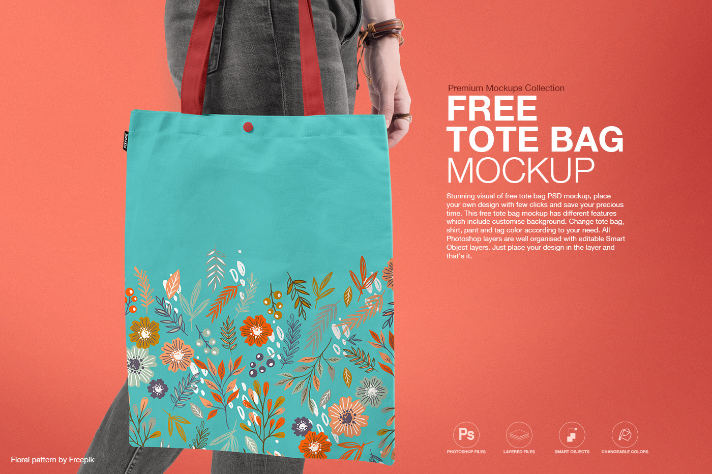 Stunning visual of free tote bag psd mockup, place your own design with few clicks and save your precious time. Free Tote Bag Psd Mockup On Behance