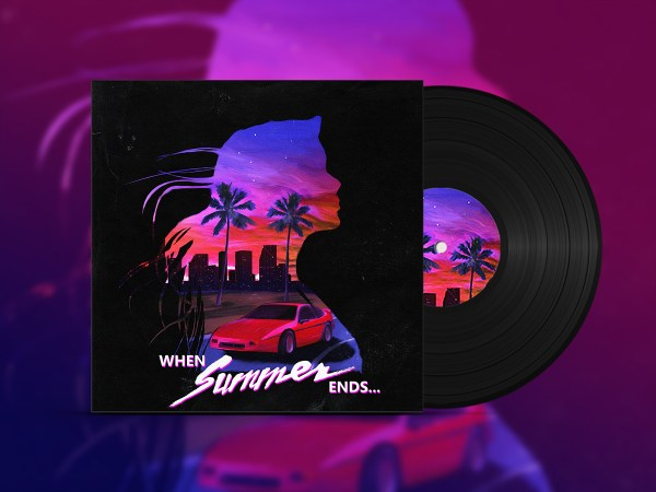 Summer Ends - Synthwave Album Cover Behance