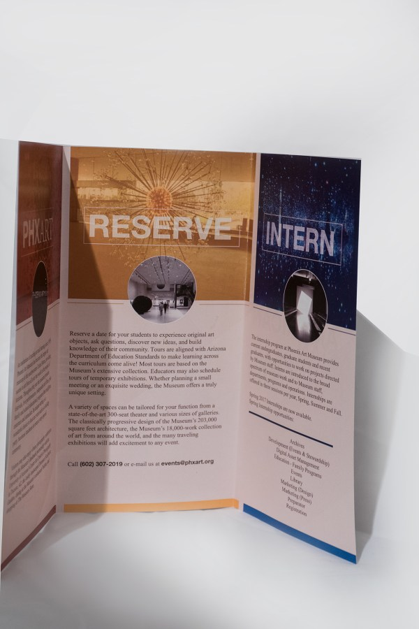 Phoenix Art Museum Brochure Mock- Pratt Portfolios