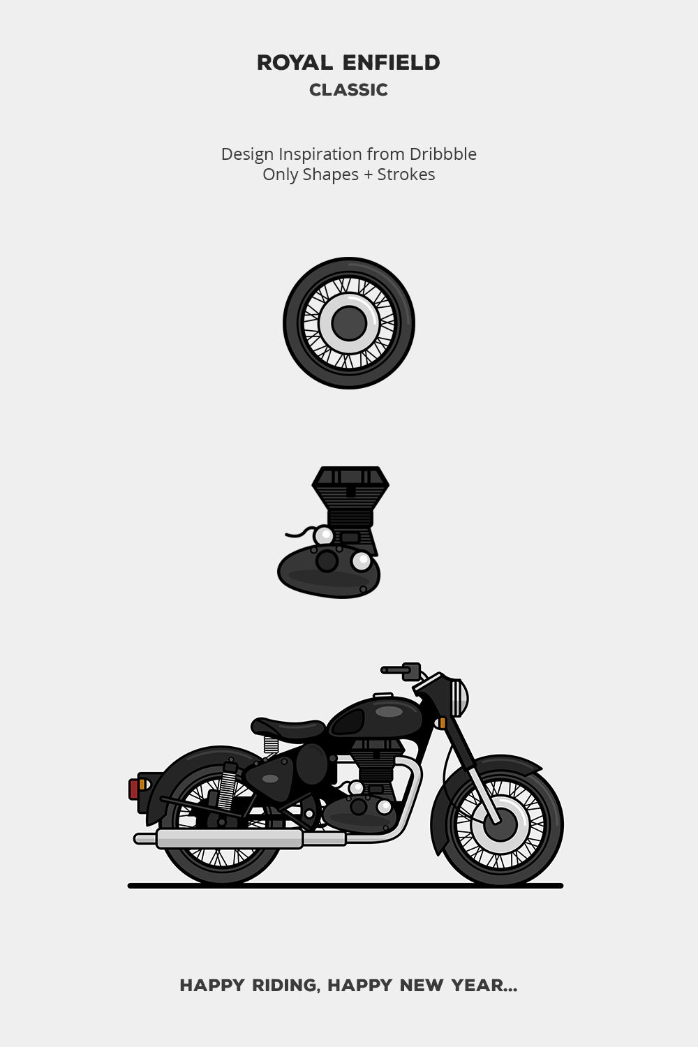 Royal Enfield Classic illustration on Behance