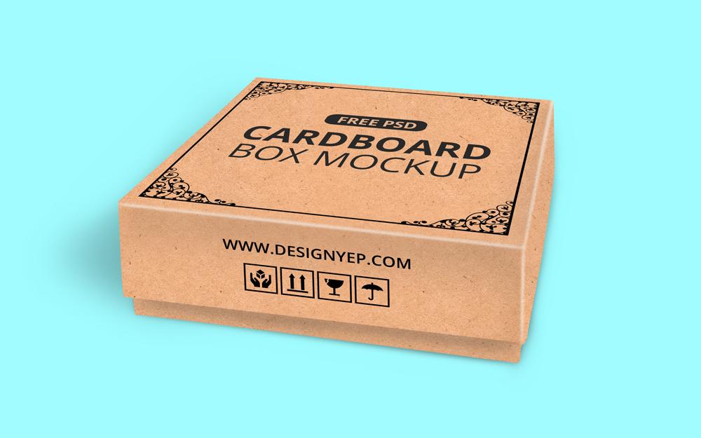 Download Free Cardboard Box Mockup PSD on Behance