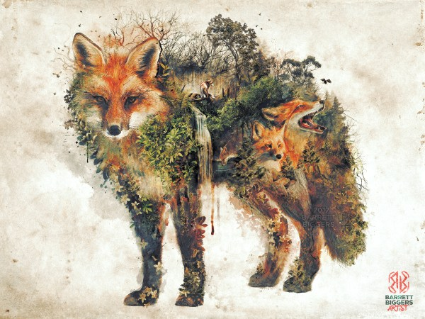 Red Fox Surrealism Nature Series Behance