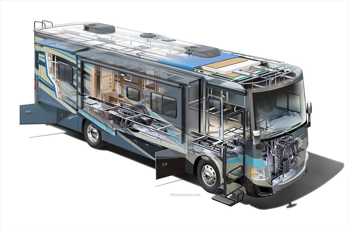 RV Cutaway Recreational Vehicle on Behance