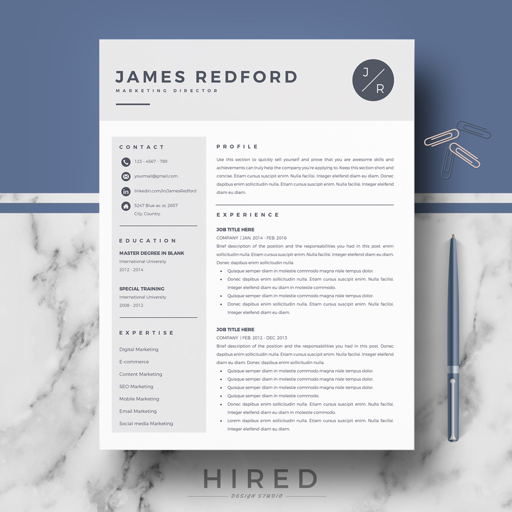 Examples in apple (mac) pages format. Professional Resume Template For Mac Pages And Word On Behance