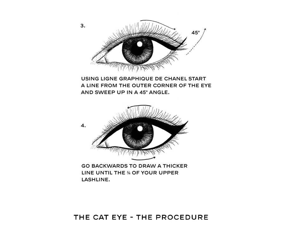 Chanel Make Up Call - Draw your eyes like a cat on Behance