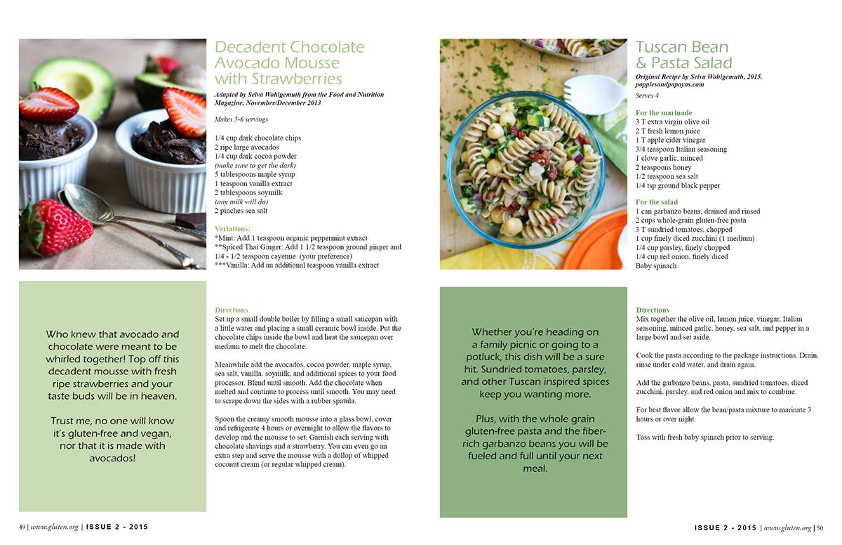 recipe layout on behance