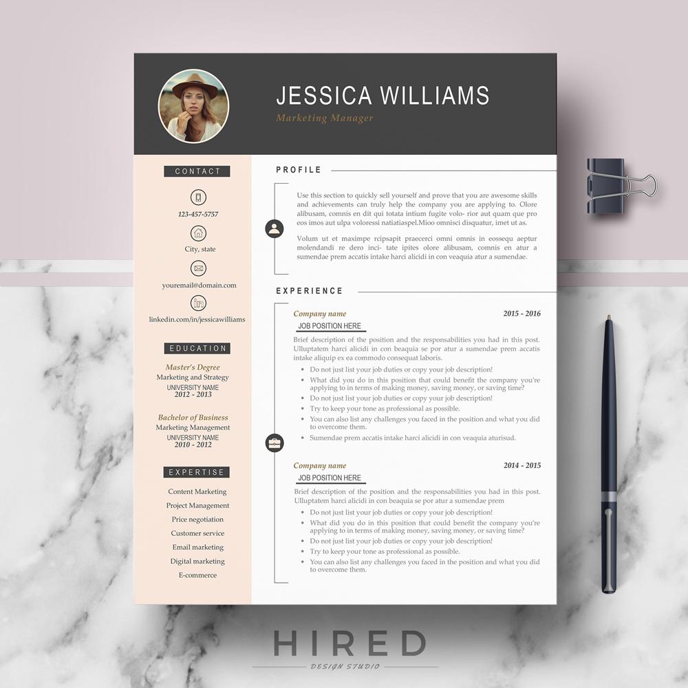 Professional  Modern Resume Template  Jessica on Behance