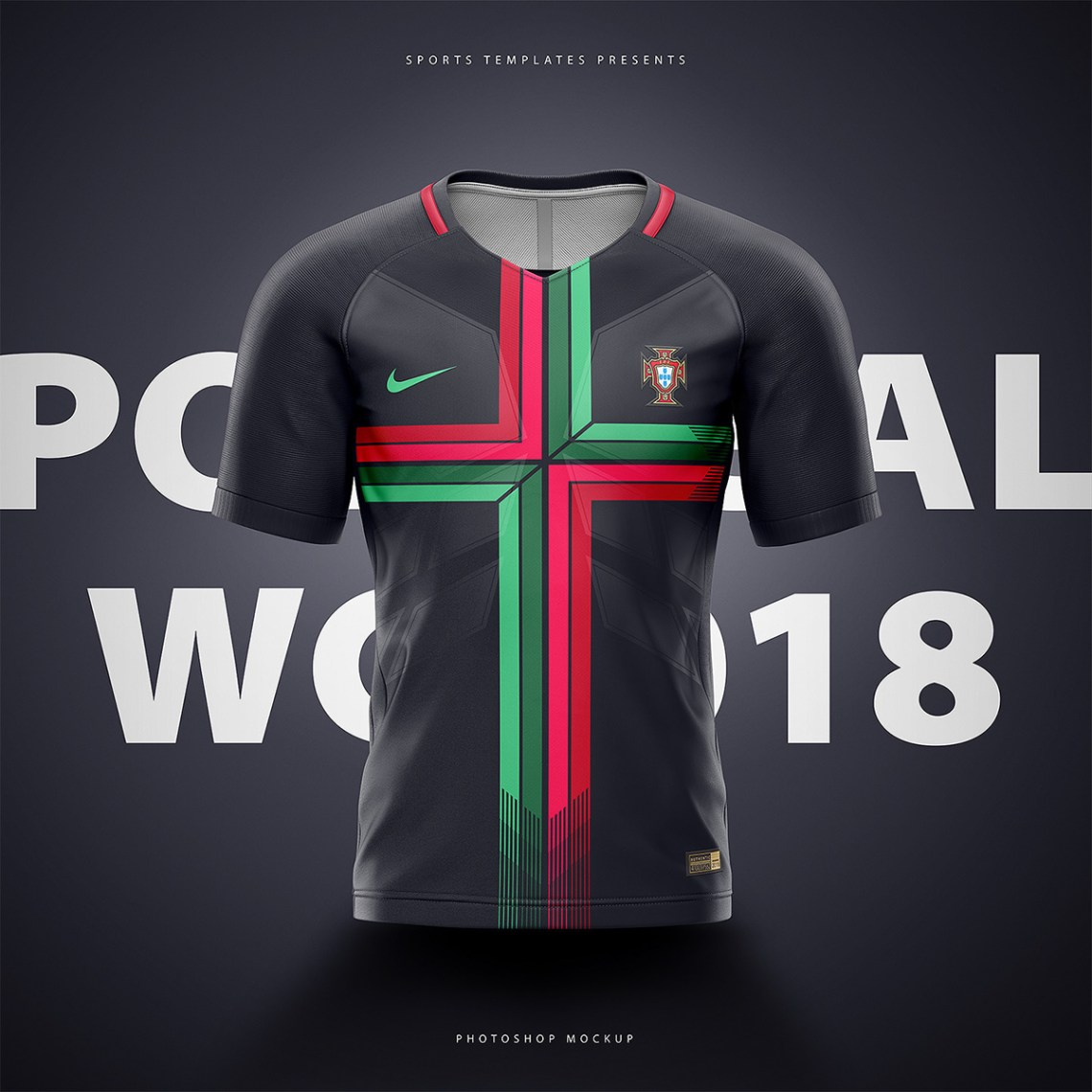Download Fifa world cup 2018 football shirt/jersey builder psd on ...