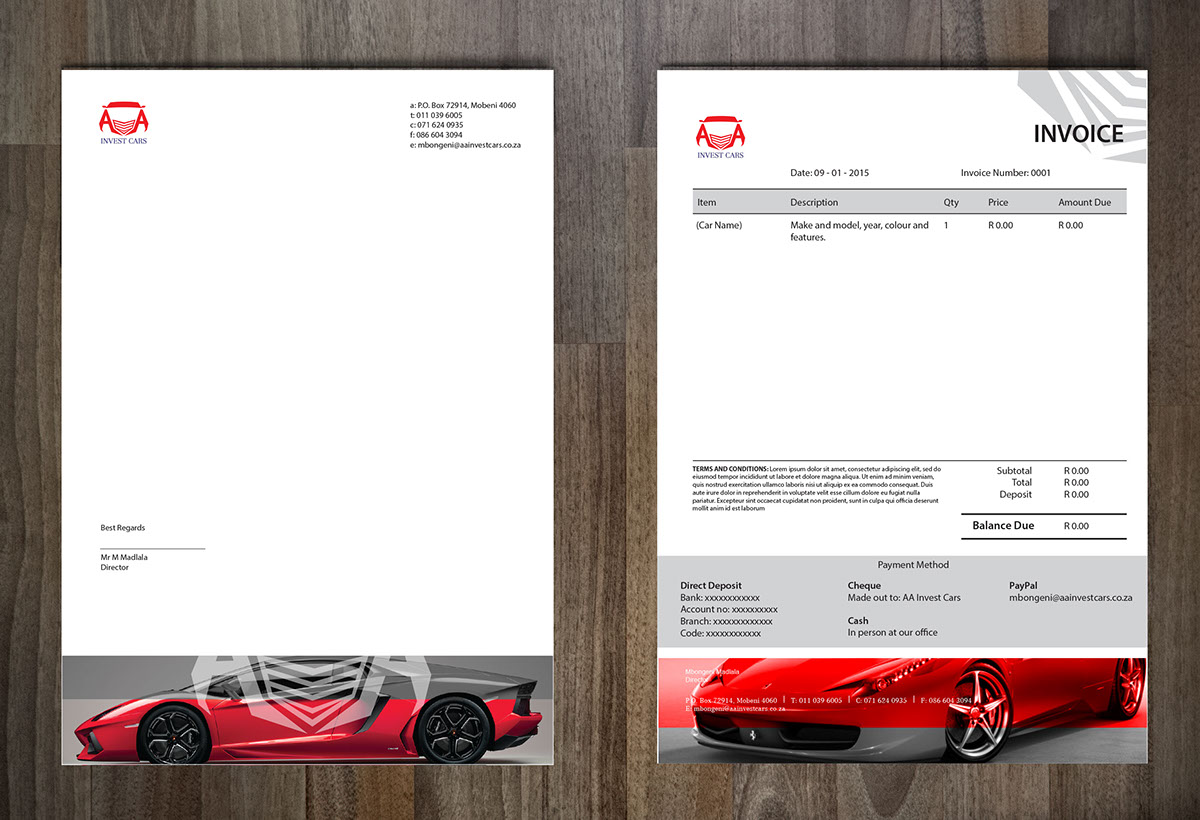 AA Invest Cars Corporate ID On Behance