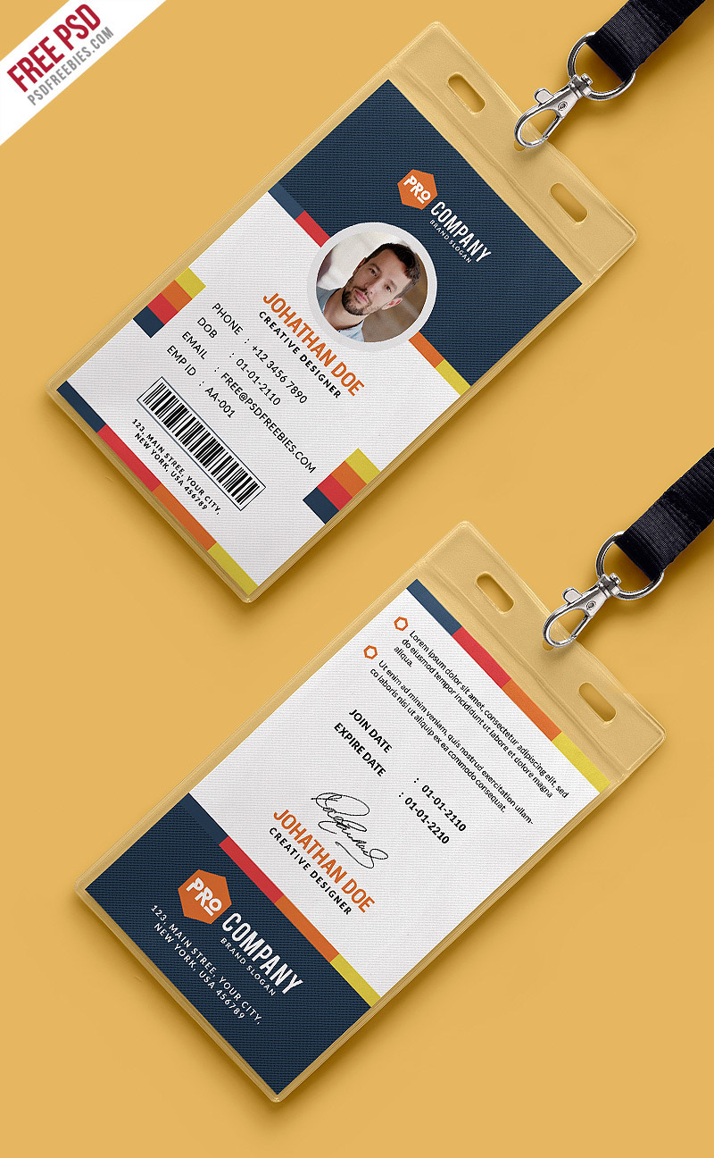 Contoh Desain Id Card Keren : contoh, desain, keren, Creative, Office, Identity, Template, Behance
