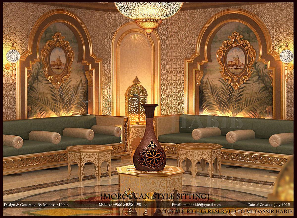 Moroccan Style Interior Design On Behance