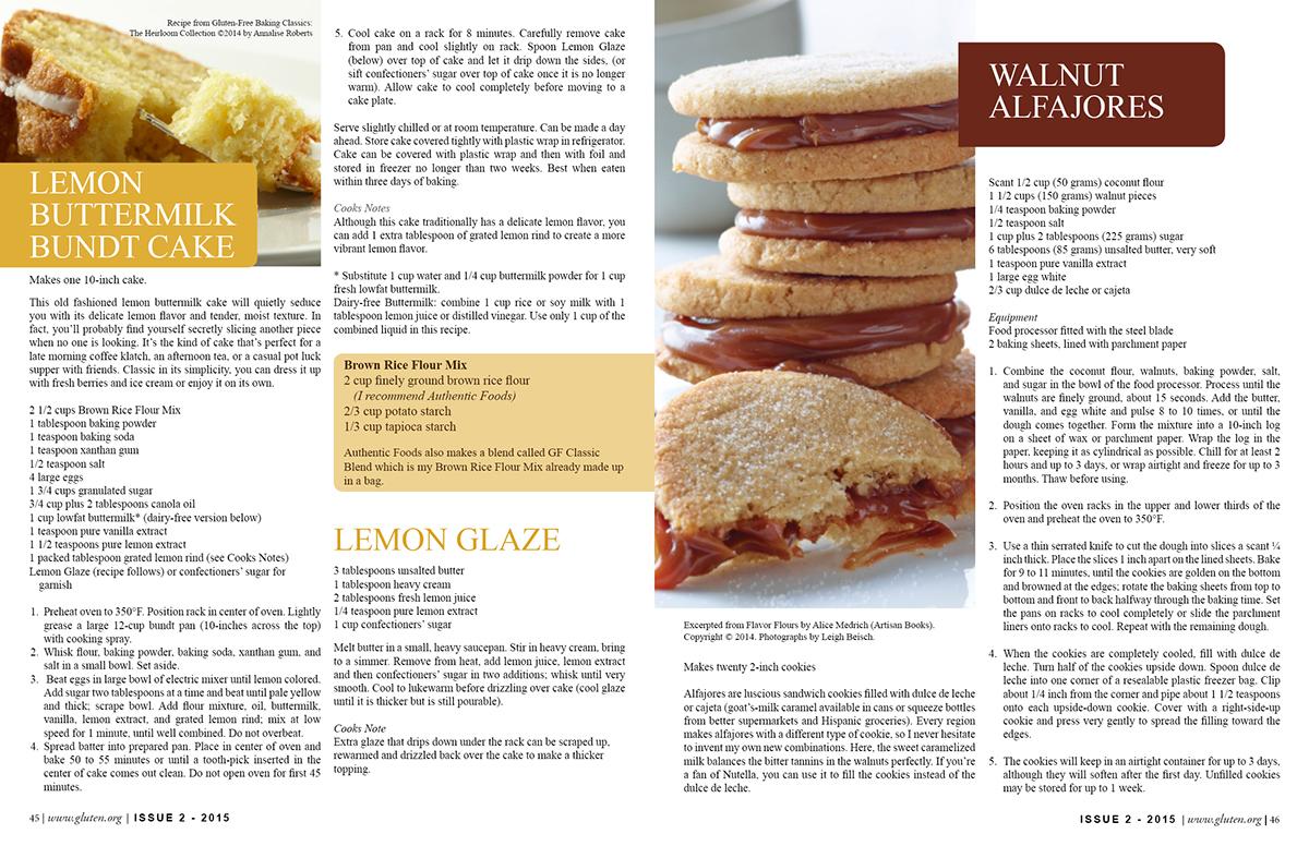 recipe magazine layout on