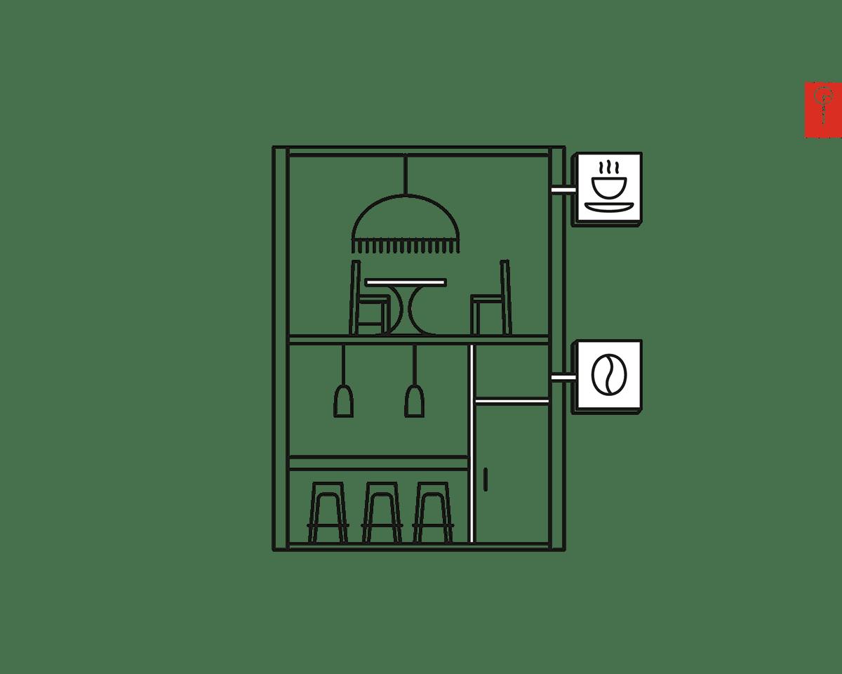 Geometric Tokyo illustration: Shop Street on Behance