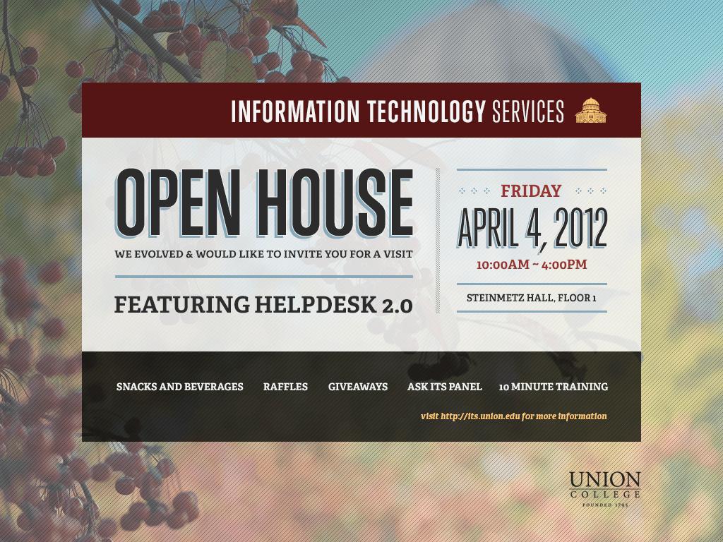 ITS Open House Invitation on Behance