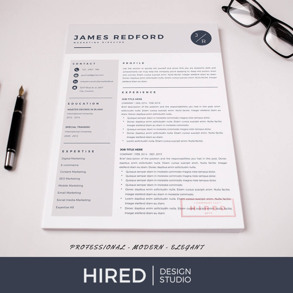 Create a professional resume in a few clicks. Professional Resume Template For Mac Pages And Word On Behance