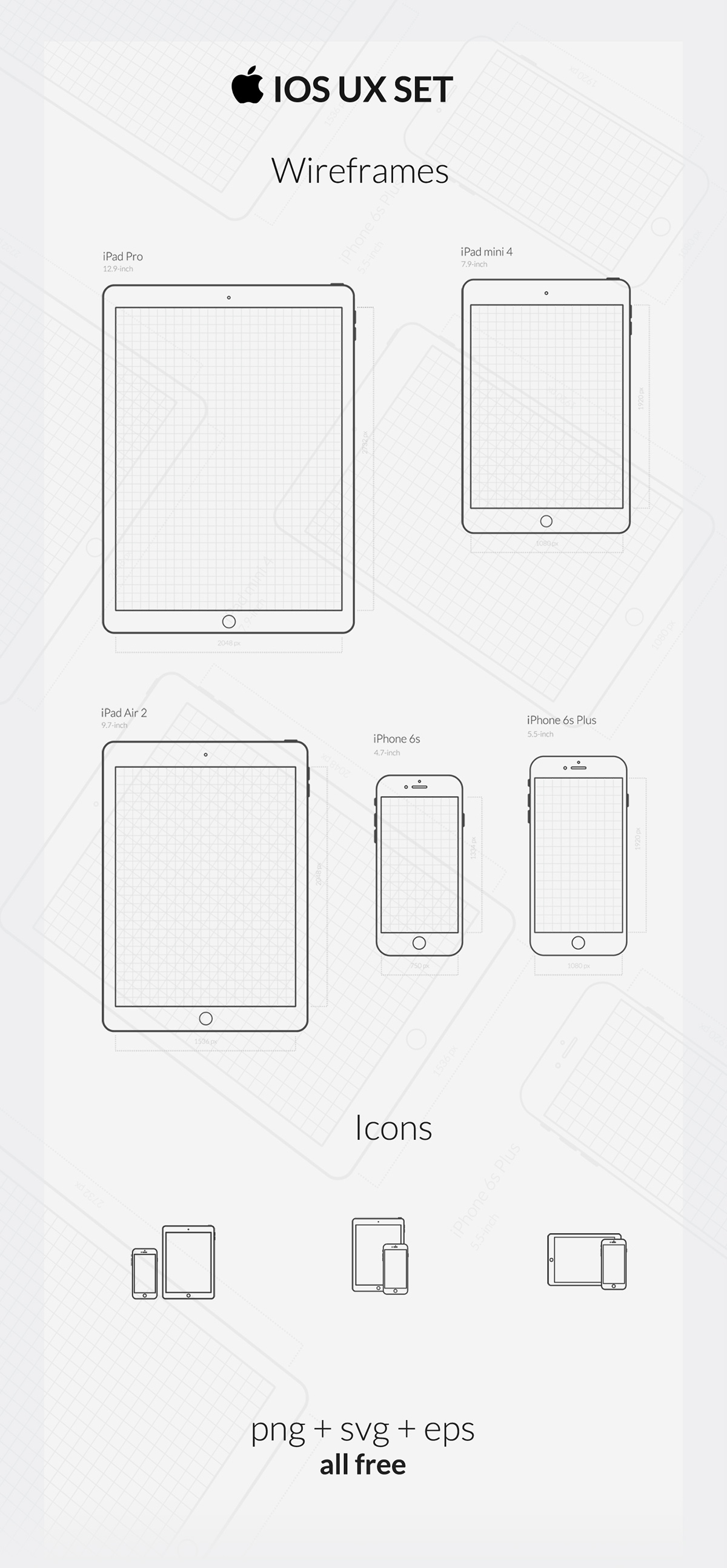 Free iOS UX SET (wireframes & icons) on Behance