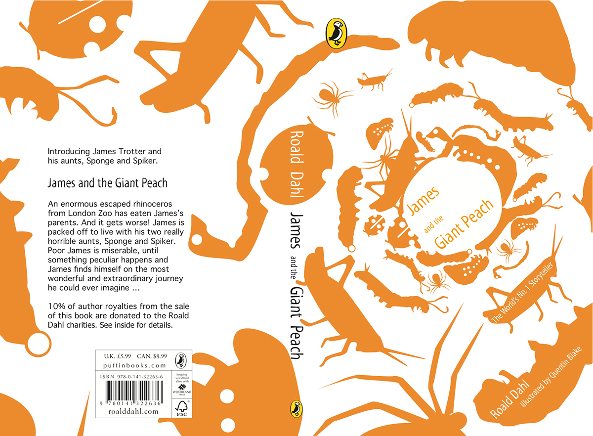 James And The Giant Peach Penguin Book Cover On Behance