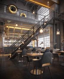 Industrial Restaurant Interior Design