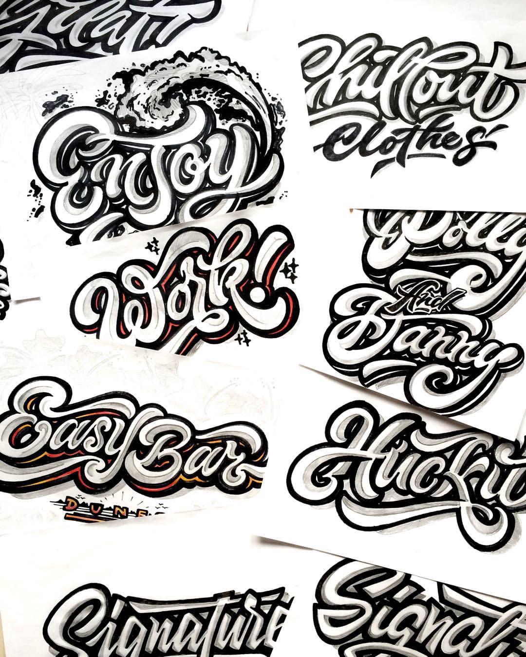 Hand lettering 2016 on Behance