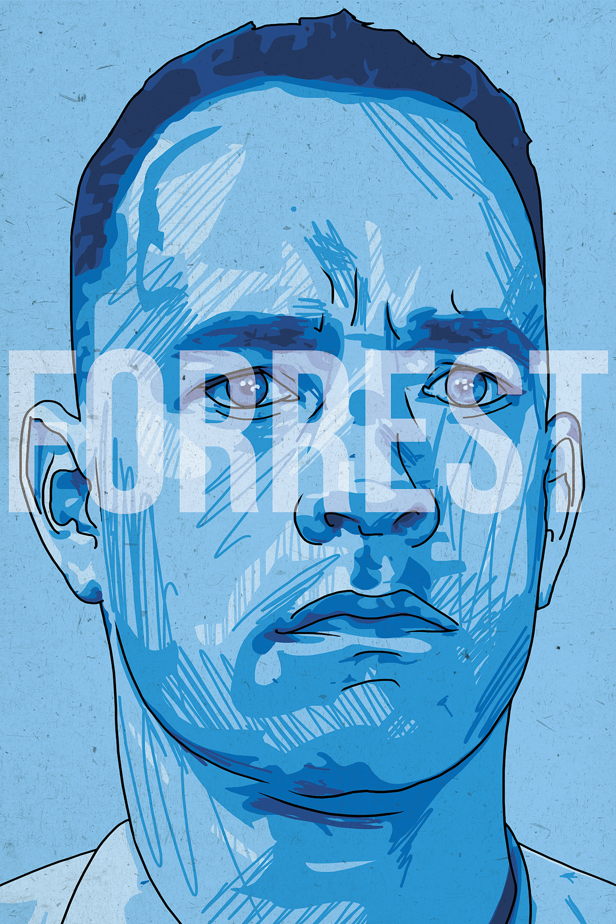 Forrest Gump Character Portrait On Behance