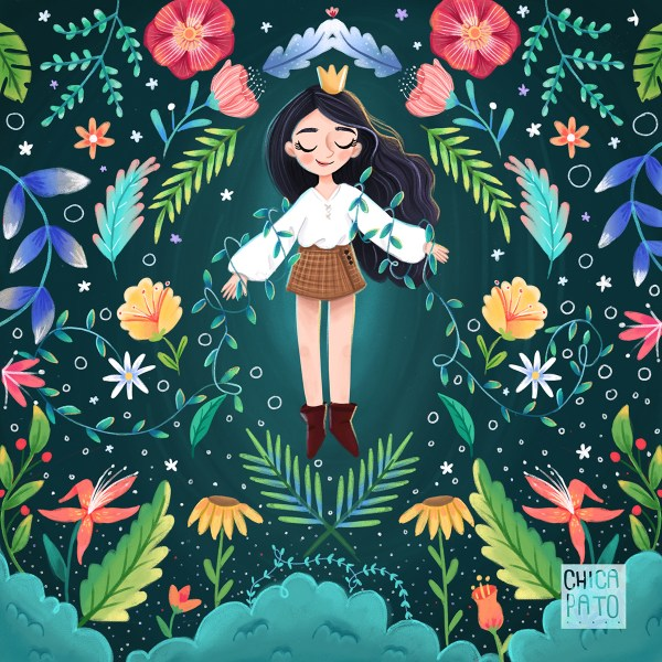 Flower Queen Illustration Behance