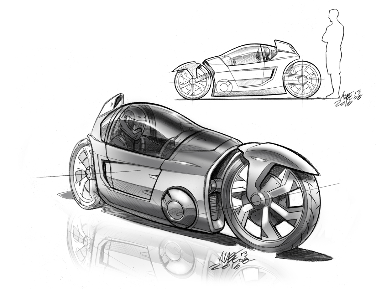 Mono Mach Enclosed Electric Motorcycle On Behance