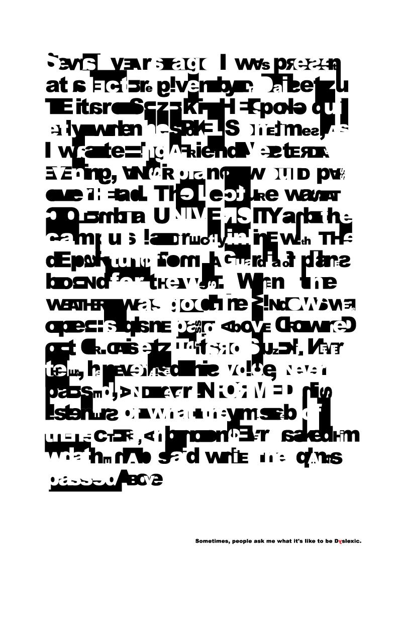 Dyslexia Poster on Behance