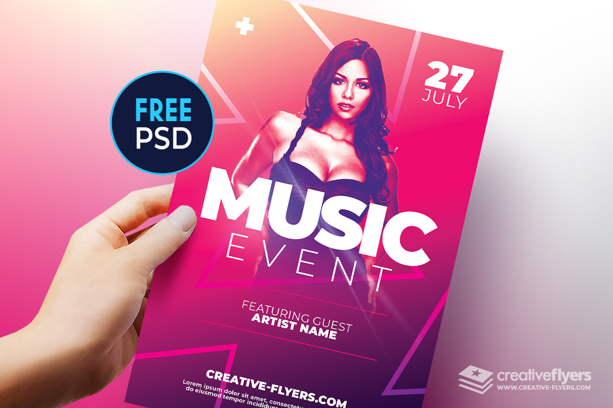 free flyer template for photoshop psd