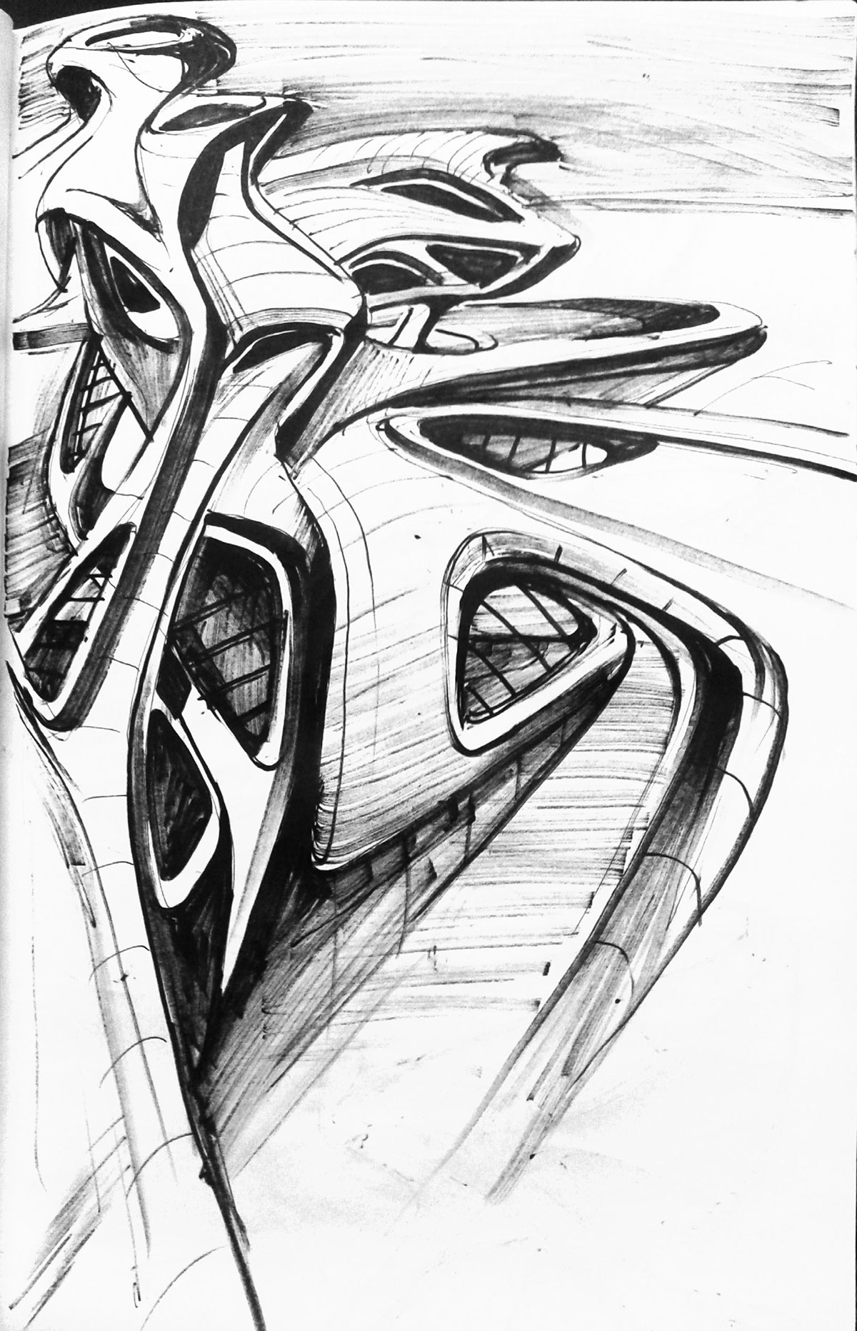 Architectural sketches ideas on Behance