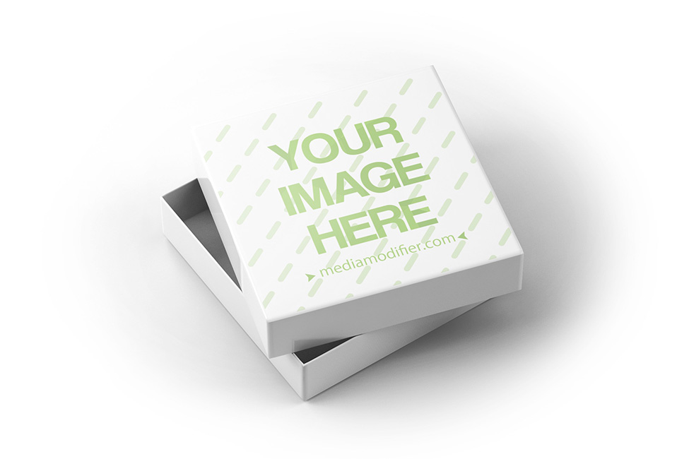 Download Square Box with Lid Open Mockup Template on Behance