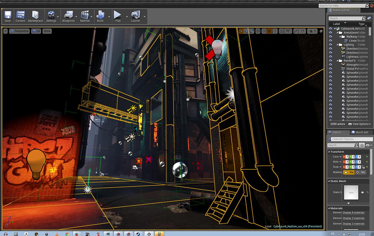 Unreal 4 - Cyberpunk Street on Behance