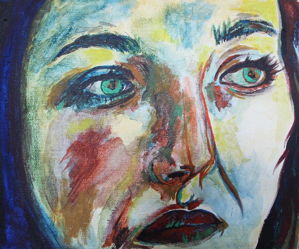 Francesca in Acrylic Paint on Behance