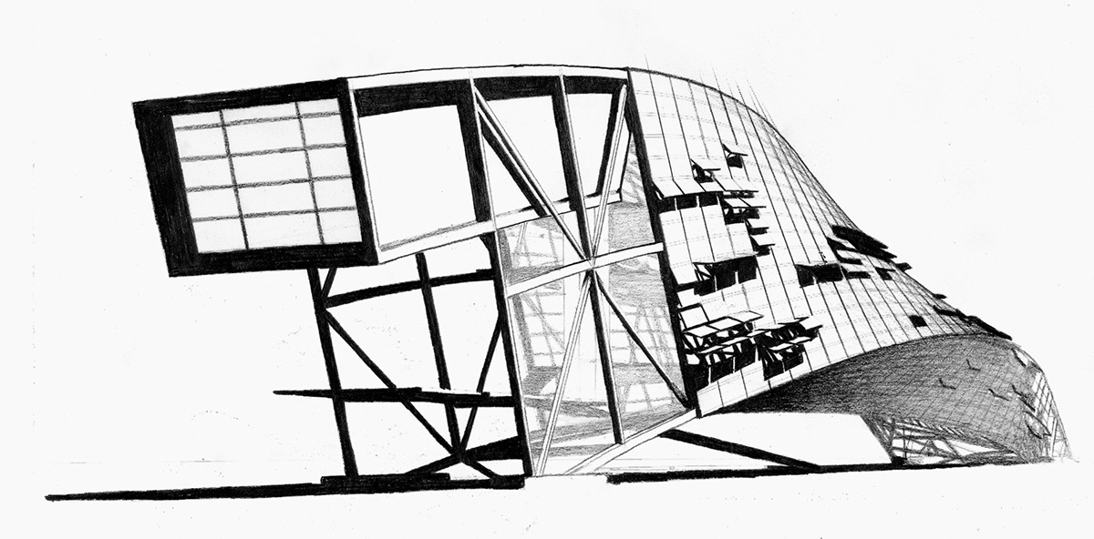 Intertwined Steel Architecture on Behance