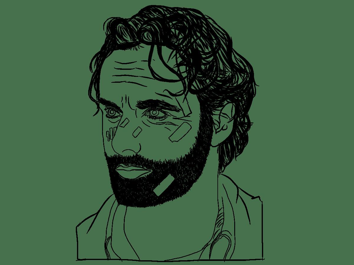 Rick Grimes Digital Drawing on Behance
