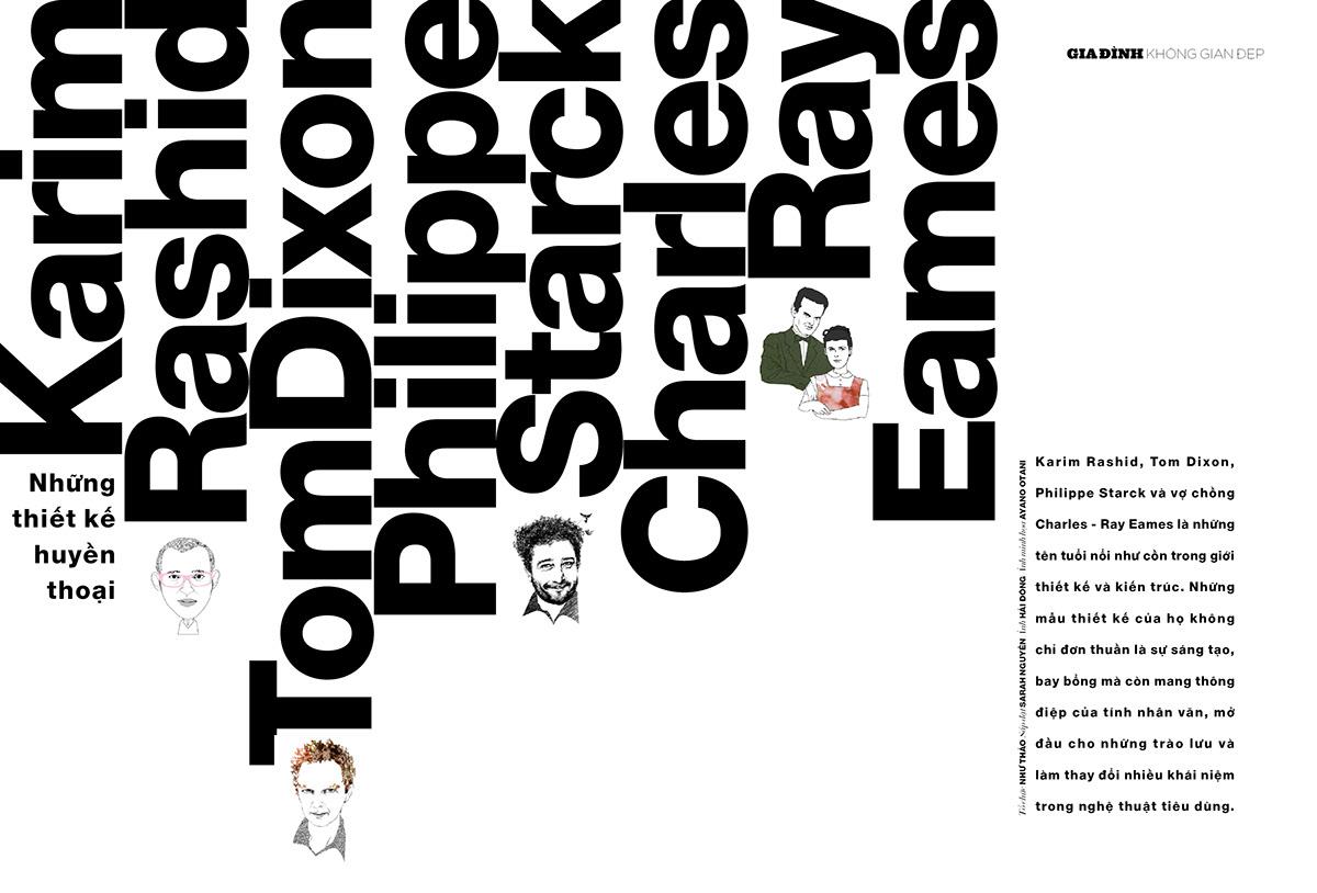 ĐẸP magazine / layout design on Behance