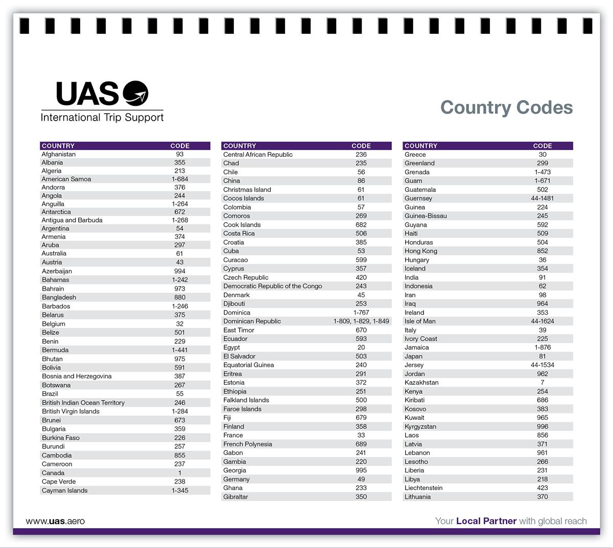 Calendar 2016 for UAS International Trip Support on Behance
