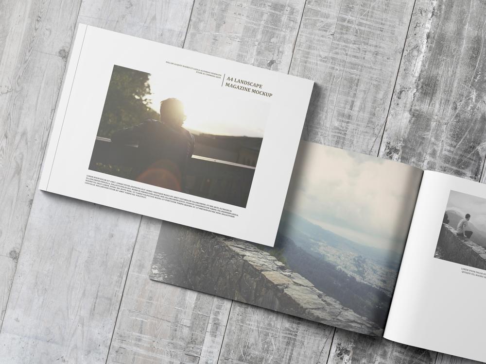 A4 Landscape Magazine  Catalogue Mockup on Behance