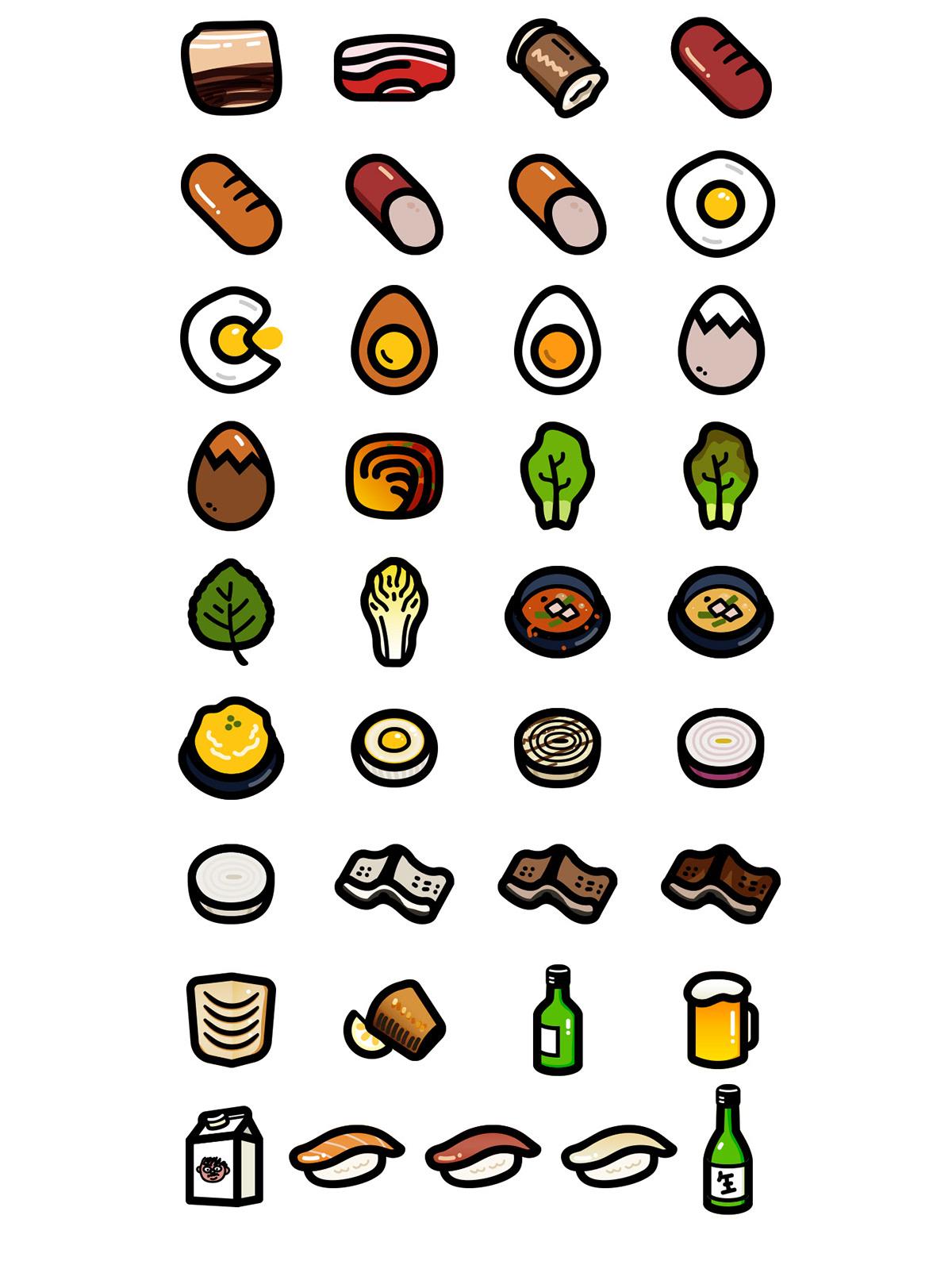 My Favorite Foods On Behance