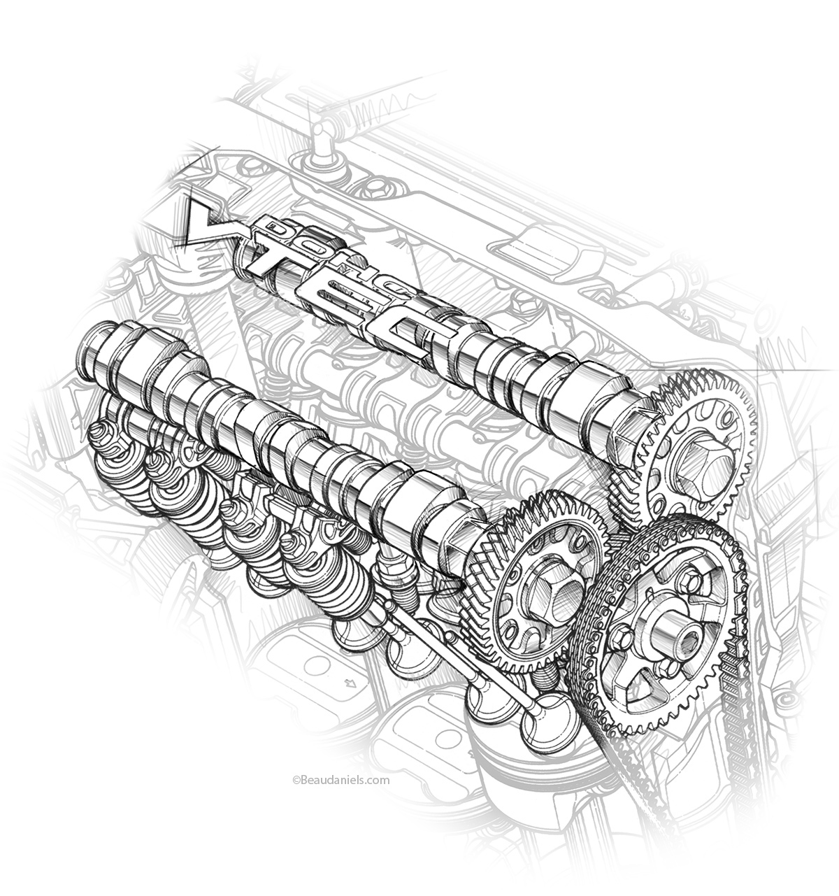 Honda S Drawings On Behance