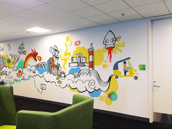 Workspace Office Wall Art Chennai Pantone Canvas