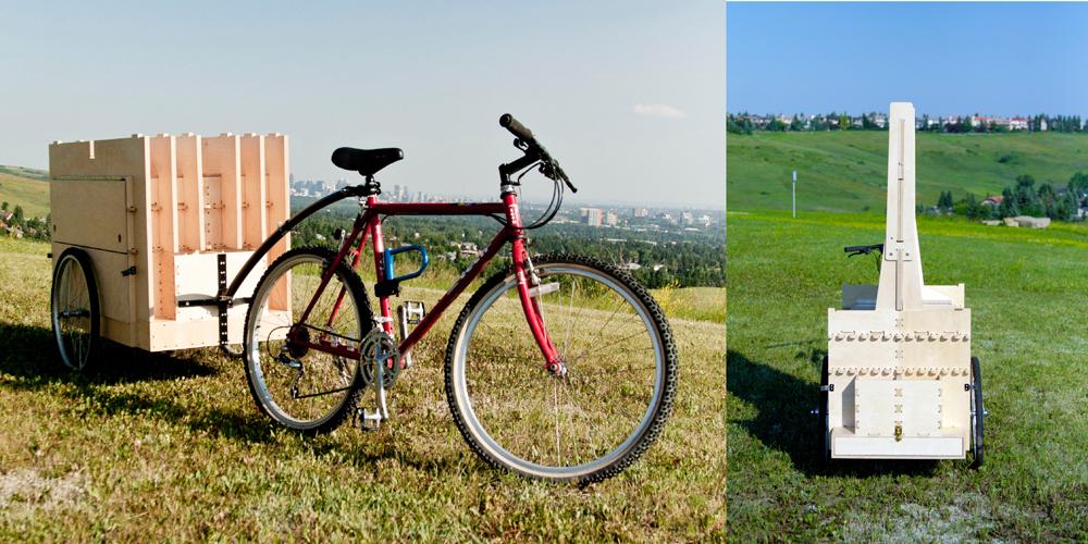 Bike Trailer前&後