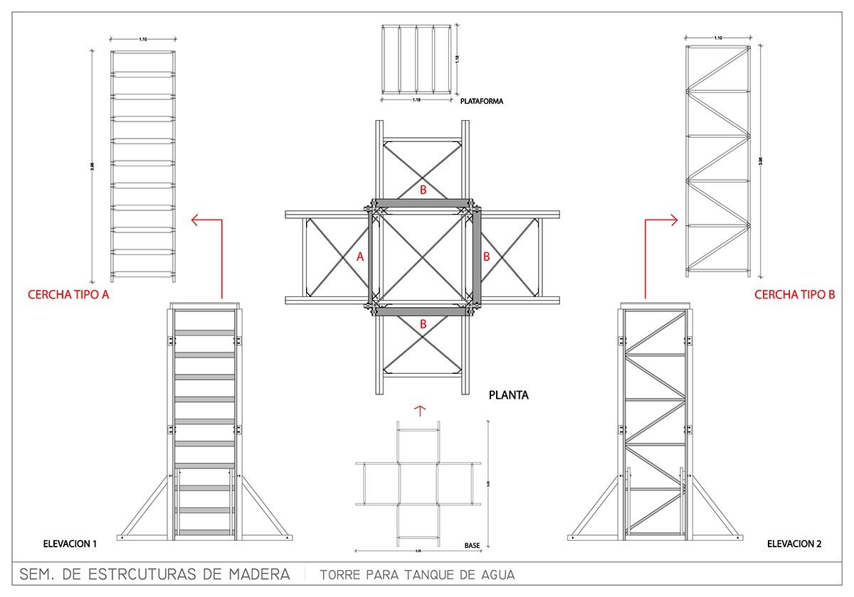 2015-1 Estructuras en Madera / Torre on Behance